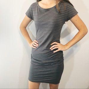 Sundry stripe tank dress ruched size 1/small